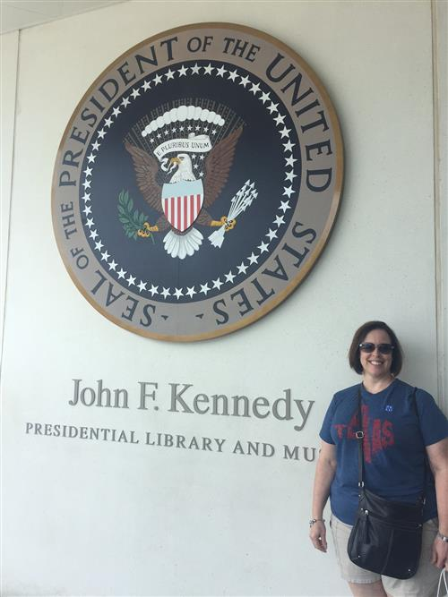 At the JFK Presidential Library