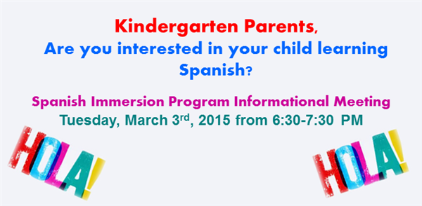Spanish Immersion Program Meeting
