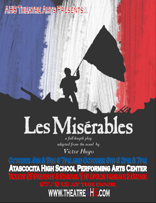 AHS Theatre Arts Presents Les Miserables Oct. 4-6