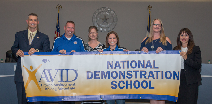 AMS named an AVID National Demonstration Schol
