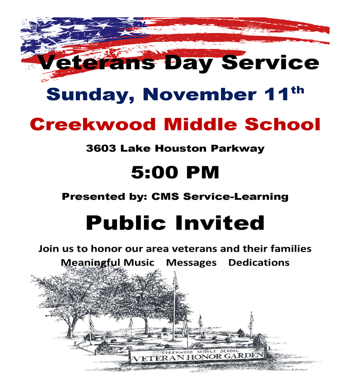 CMS Veterans Day Service