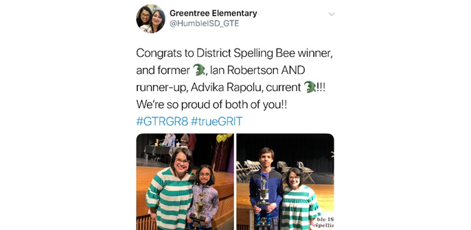 2019 Spelling Bee Winners