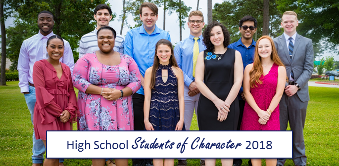 2018 High School Students of Character