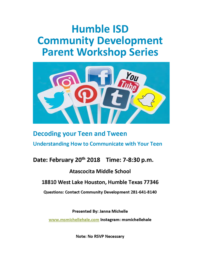 Parent Workshop Series February 20, 2018