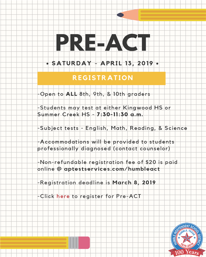 Pre-ACT April 13, 2019