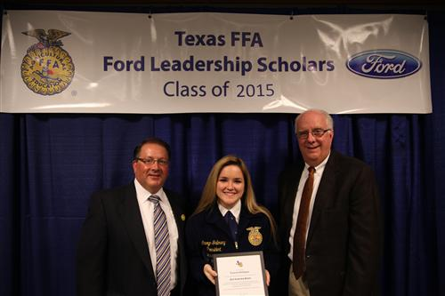 Kingwood Park FFA Student Recognized as Texas FFA Ford Leadership Scholar