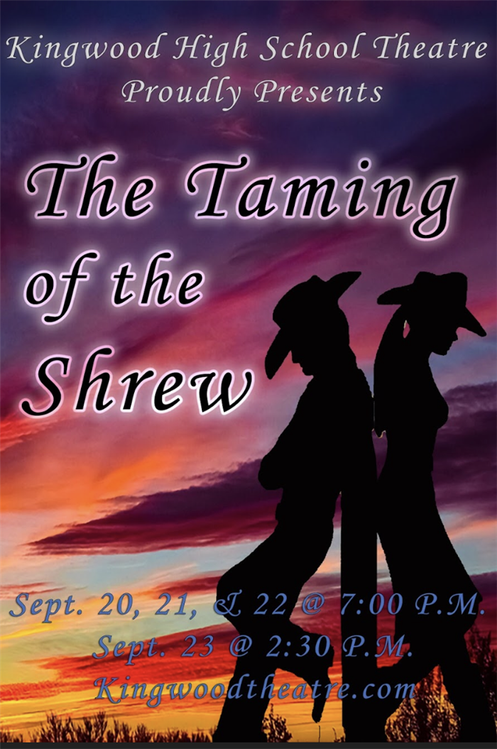 The Taming of the Shrew Sept. 20-23