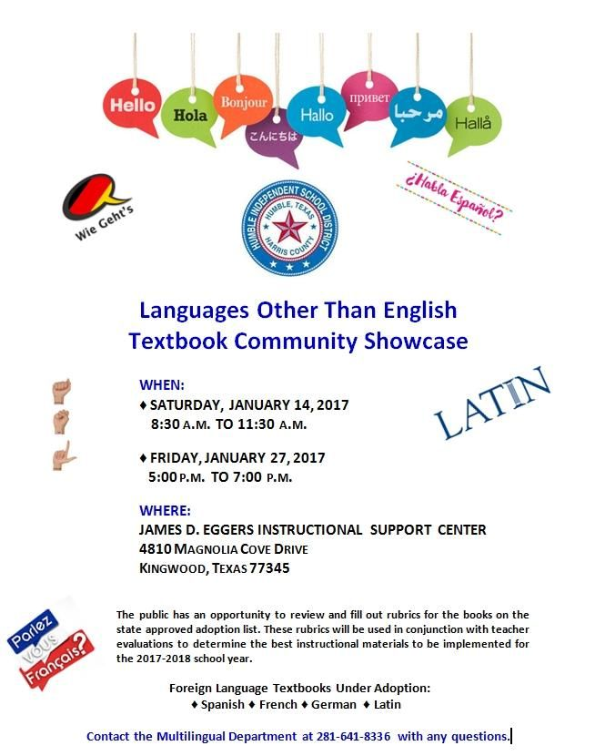 LOTE Textbook Community Showcase