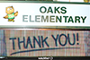 Oaks Elementary has a new marquee