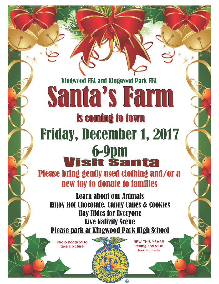 Santa's Farm Fri. Dec. 1