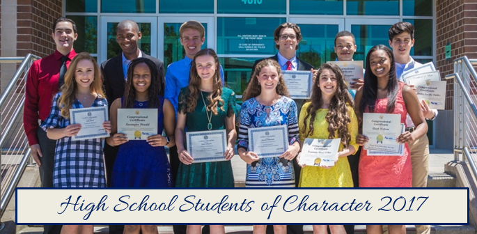 High School Students of Character 2017