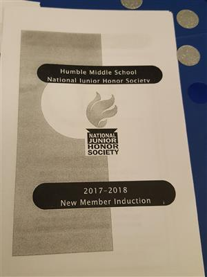 NJHS New Member Induction