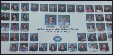2015 Teacher of the Year