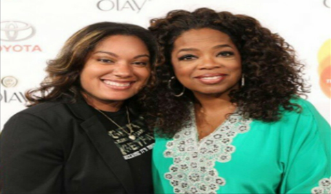 Chetoya Andrews with Oprah