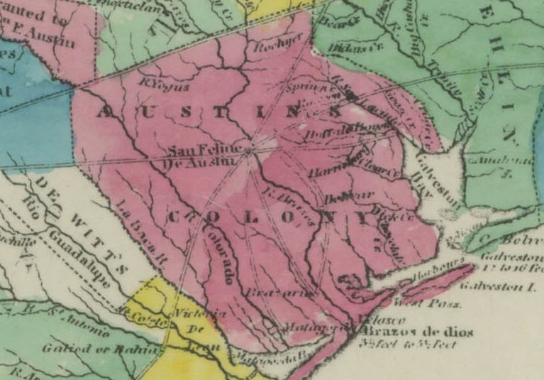 1833 Map of Coahuila and Texas
