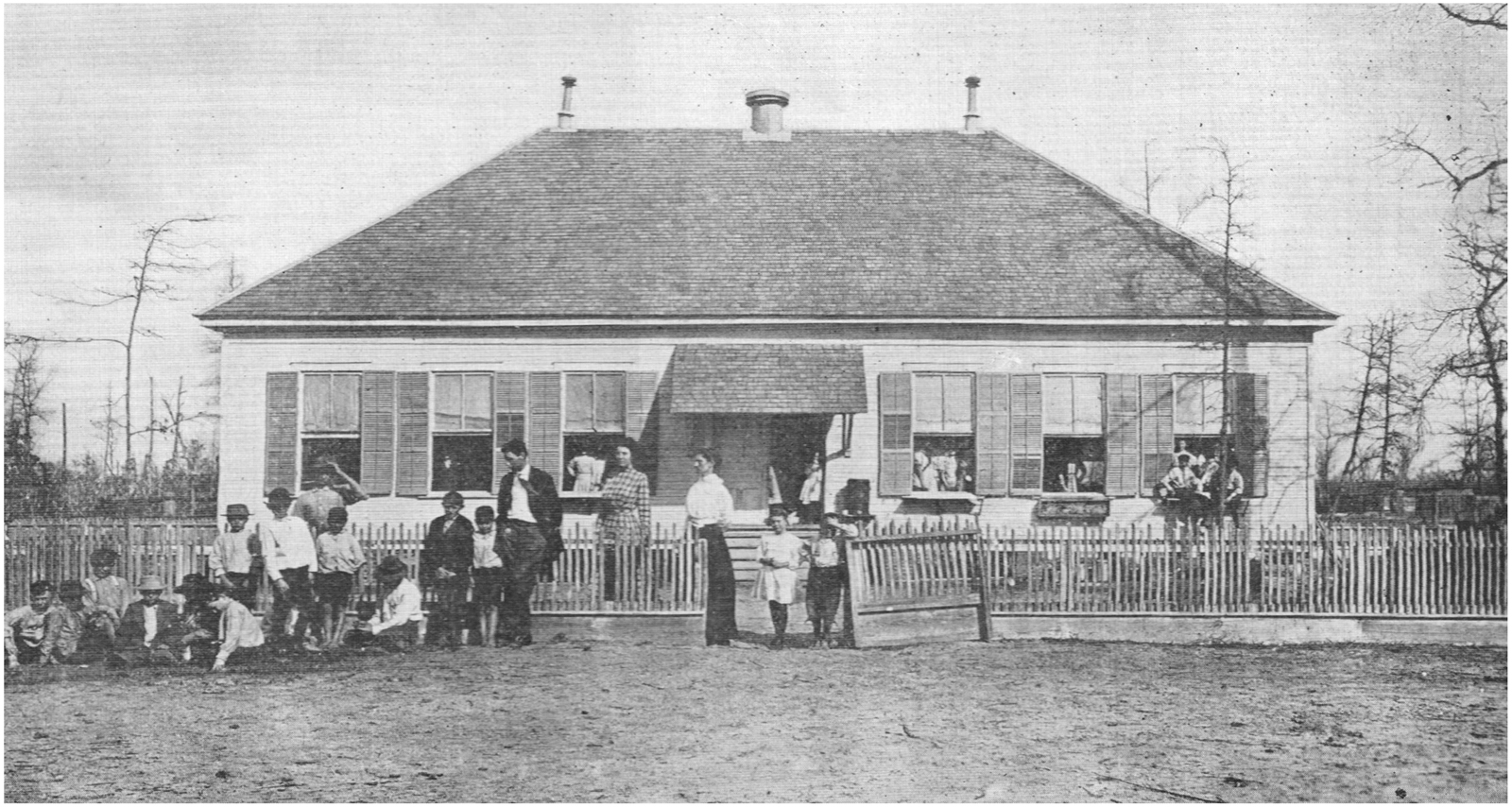 Woodward School at Moonshine Hill, 1910