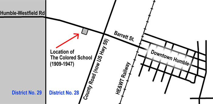 Location of the Colored School