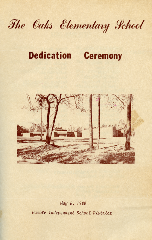Dedication program page 1