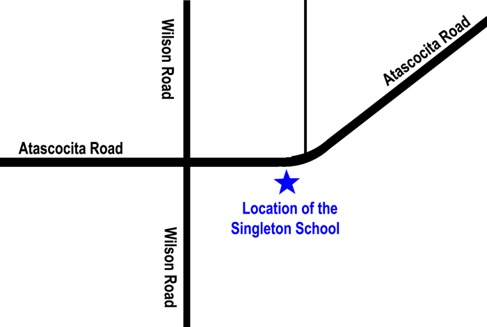 Location of the Singleton School