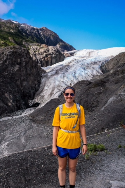 In front of Exit Glacier in Alaska.