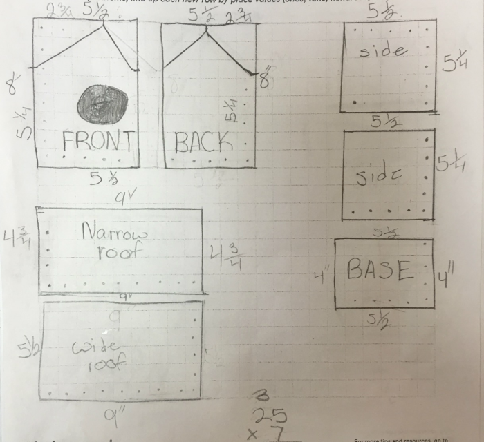 Elementary students use math lesson to build birdhouses whe birdhouse project ccuart Images
