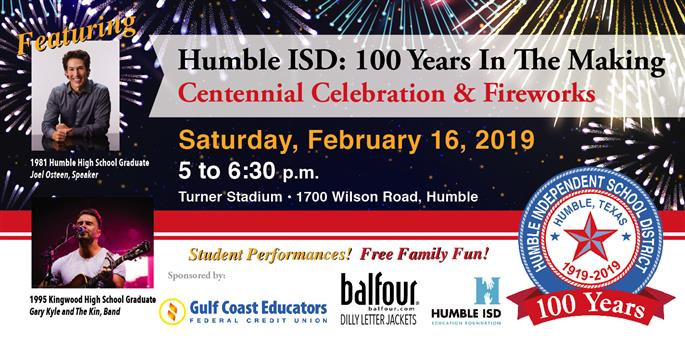 Integrated Athletics Compe Ion Humble Isd Invites Community To Centennial Cele Tion And Fireworks