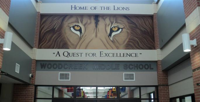 Image result for woodcreek middle school lion