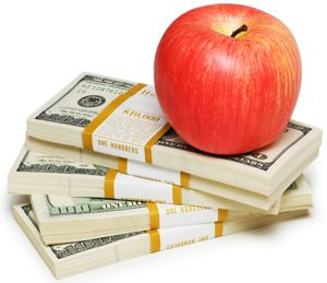 apple money stack