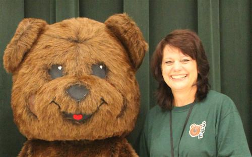 Elmer Bear and Mrs. Palmer
