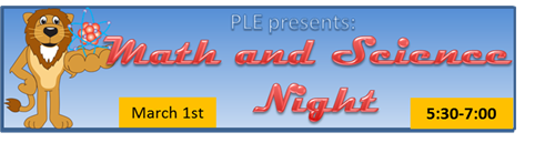 Math and Science Night Mar. 1