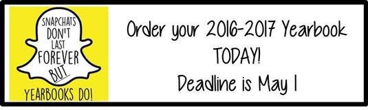 Yearbook orders due May 1