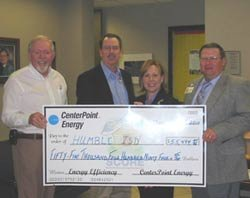 CenterPoint Energy presents check for Humble ISD's participation in the SHARE program