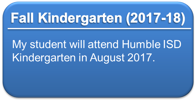 Fall Kindergarten Registration for 2017-2018