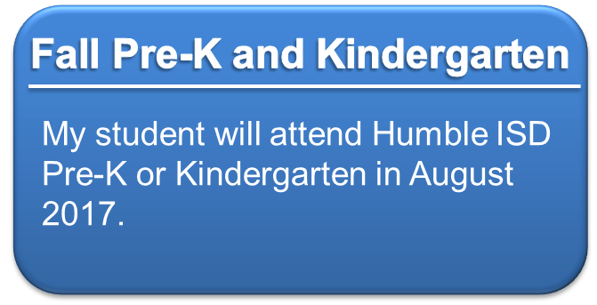 Fall Pre-K and Kindergarten Registration