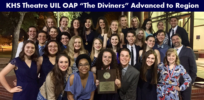 KHS Theatre UIL OAP Advanced to Region